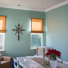 Crown molding would look really good in the rooms...MUCH better than the thin stuff- Right? ;-)