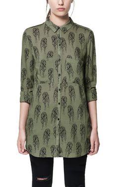 LEOPARD-PRINT LONG SHIRT $29.99 from Zara