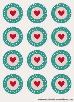 Imprimolandia: San Valentín cupcakes