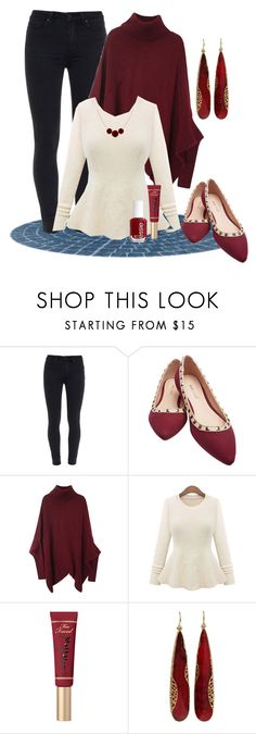 """""""Untitled #2877"""" by empathetic ❤ liked on Polyvore featuring Paige Denim, Wet Seal, Too Faced Cosmetics, Essie, Yossi Harari, women's clothing, women's fashion, women, female and woman"""