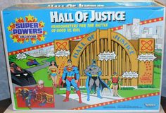 KENNER: 1984 Hall of Justice Playset - Modeled after the Union Terminal right next to Kenner st.