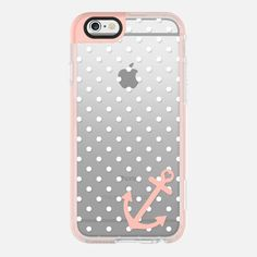 White Peach Nautical Polka Dot  - New Standard Pastel iPhone 6s Case