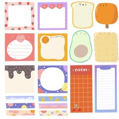 Stickers Kawaii, Cute Stickers, Bullet Journal Ideas Pages, Junk Journal, Journal Stickers, Planner Stickers, Images Kawaii, Memo Notepad, Korean Stickers