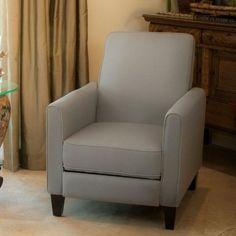 Best Selling Davis Recliner Club Chair, Grey - Walmart.com