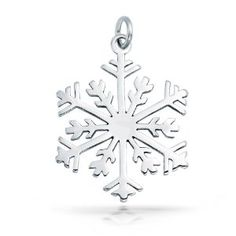 Christmas Gifts Bling Jewelry Classic 925 Sterling Silver Snowflake Pendant Charm: Amazon.co.uk: Jewellery