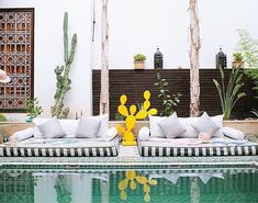 Le Riad Jasmine pool marrakech morocco islamic pool garden
