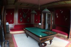 Billiards room for the holiday party