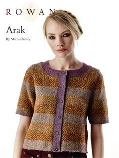 Arak - free pattern from Rowan: Knit this beautiful fairisle cardigan, the member's monthly exclusive free pattern for May. Designed by Martin Stroey and using the stunning yarn Felted Tweed (merino wool and alpaca). With a gorgeous colour stitch pattern, short set-in sleeves and contrasting bands.