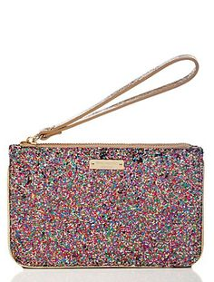 pretty kate spade glitter wristlet only $29!