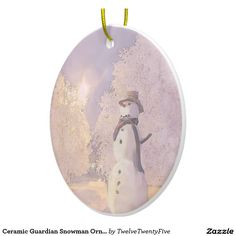 Ceramic Guardian Snowman Ornaments