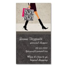 Sophisticated Shopper Business Card. I love this design! It is available for customization or ready to buy as is. All you need is to add your business info to this template then place the order. It will ship within 24 hours. Just click the image to make your own!