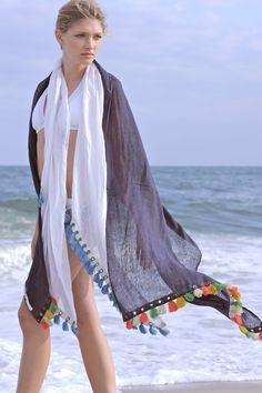 Medina Wrap Navy: Ananda by Erika Falconeri : NYC Fashion : Scarves : Wraps :