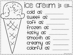 This is a great worksheet to teach similies! Worksheets are a great idea but computer paper can get very pricey especially if you have 20 students or lots of classes! Also the time to make lots of copies would be a downside. Teaching Language Arts, Teaching Writing, Writing Activities, Teaching Tips, Speech And Language, Teaching Poetry, Writing Rubrics, Writing Goals, Paragraph Writing