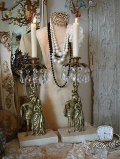 french country cottage  French Country decorating antique bronze and marble
