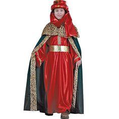 Disfraz rojo de Rey Mago #infantil #disfraces