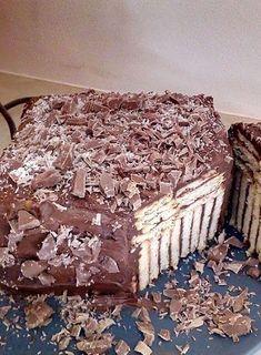 Τούρτα κορμός! Απίστευτη γεύση! Party Desserts, Greek Recipes, Confectionery, Nutella, Decorative Boxes, Sweets, Chocolate, Eat, Food