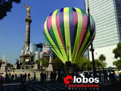 Globo aerostático en el Ángel de la Independencia  información: ana@globosaerosticosmexico.com