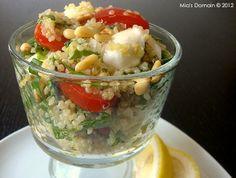 Mia's Domain | Real Food: Quinoa Mozzarella Tomato Salad