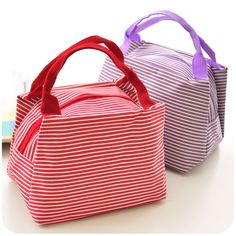 Cotton Lunch Bags Cooler Insulation Lunch Bags For Women Thermal Bag Lunch Box Handbag