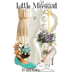 Female Little Mermaid wedding outfit