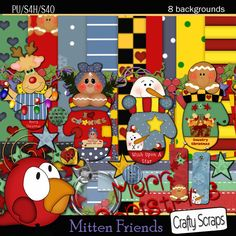 Mitten Friends is one of the cutest kits for the holiday season...get this kit at craftyscrapsstore.com/