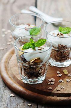 Healthy breakfast with muesli and yogurt by Oxana Denezhkina on 500px
