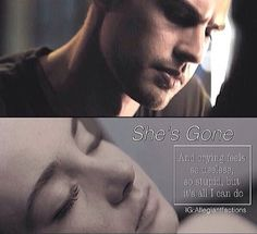 """I was listening to the radio and then I realized that """"say something I'm giving up on you"""" reminds me of when Tobias finds out about Tris's death. He thinks she's still alive and gonna wake up, but when she doesn't, he starts giving up on her. And """"I'm sorry that I couldn't get to you"""" in the song also reminds me of it."""