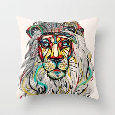 Lion Throw Pillow by Felicia Atanasiu - $20.00