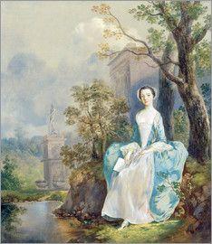 Thomas Gainsborough - Mädchen mit Buch in einem Park