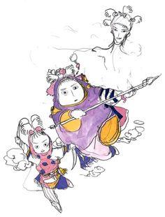 Yoshitaka Amano - Magus Sister - Final Fantasy IV