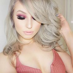New #makeup tutorial is up on my channel! it was requested by a lovely subscriber of mine Lilliana! Hair was refreshed at the roots and toned by @hairbyraquelr thanks so much again! by ashleyswagnerxo