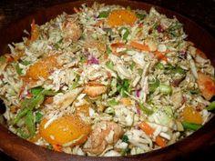 Asian Chicken Slaw, Healthy, Light, Easy