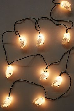 Glittered Owl String Lights - anthropologie.com #anthroregistry