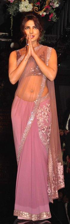 priyanka in pink #saree.........