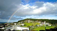 Rainbow over Langs Cove