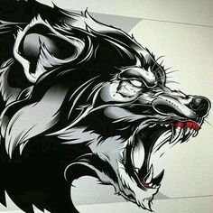 King Tattoos, Body Art Tattoos, Animal Sketches, Animal Drawings, Werewolf Art, Werewolf Tattoo, Desenho New School, Wolf Tattoo Sleeve, Skull Sketch