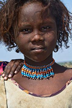 Africa | Young Afar girl.  Danakil, Ethiopia | © Johan Gerrits