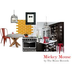 """""""Disney Inspired Interiors"""": Mickey Mouse. Bring the mouse to your kitchen."""