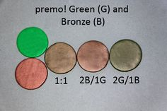 Green and Bronze ~ Polymer Clay Colormix