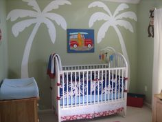 Beach nursery :) Love the palm trees!!