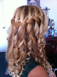 Waterfall French Braid Long Hair Hairstyles