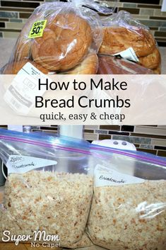 Recipes With Old Bread, Leftover Bread Recipes, How To Make Breadcrumbs, Dry Bread, Holiday Recipes, Holiday Meals, Frugal Recipes, Christmas Recipes, Good Food