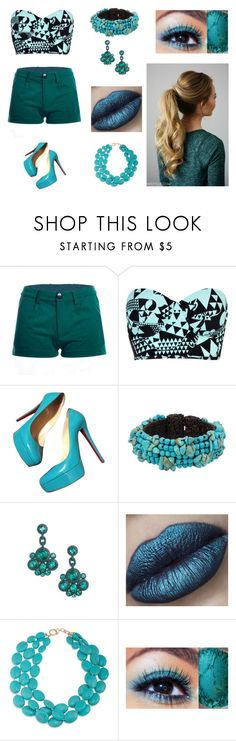 """""""Sin título #542"""" by aolivero ❤ liked on Polyvore featuring River Island, Christian Louboutin, NOVICA, Kate Spade and Ralph Lauren"""