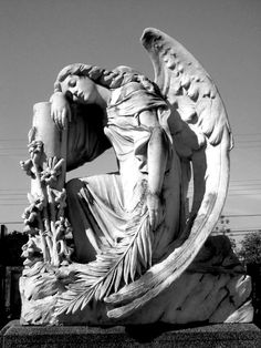 ☫ Angelic ☫ winged cemetery angels and zen statuary -                                                                                                                                                      More
