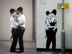 Nick Stern creates studio re-enactments of Banksy's most iconic stencil work. More at: http://slate.me/W77jBm