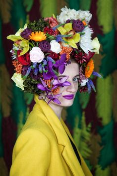 Editorial Flower shoot for Magda Oltean, 2017 8th Of March, Photography Projects, Ladies Day, Headpiece, Editorial, Studio, Flowers, Fashion, Canvases