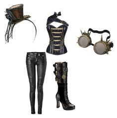 """""""i noticed that balled of mona lisa has a steampunk theme so i made dis"""" by blue-from-the-fallen ❤ liked on Polyvore featuring Balmain and Demonia"""