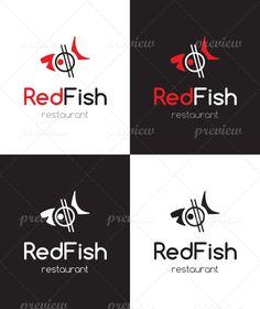Red Fish Sushi Restaurant Logo