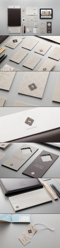"Love the cut out business card Boutique Hotel ""The Sultan"" Brand Identity via Be. Love the cut out business card Boutique Hotel ""The Sultan"" Brand Identity via Behance Design Typo, Logo Design, Design Poster, Brand Identity Design, Graphic Design Branding, Packaging Design, Design Cars, Brand Design, Corporate Design"