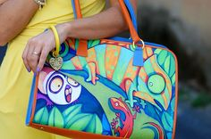 borsa dipinta a mano - hand painted bag